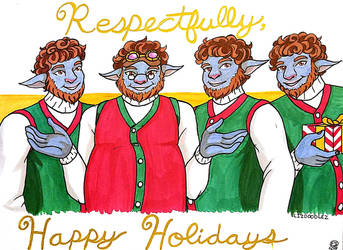 Critical Role: Ugly Sweater Pumat Sol(s) by LizDoodlez