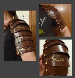 Leather Spaulders (in-progress) by Woppy42