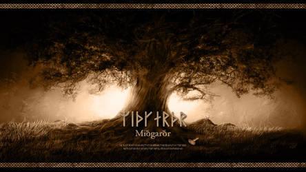 Midgard - Yggdrasil - Wallpaper Full HD by PlaysWithWolves
