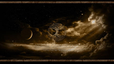 Norse Cosmology Wallpaper by PlaysWithWolves