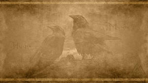 Hugin and Munin by PlaysWithWolves