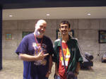 Me with Kyle Hebert at Nekocon 17 by ChaoticFeline