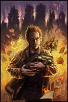 Fahrenheit 451 cover by BonePileStudio