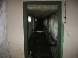 abandoned bunker: doorway to hallway 1 by TheLonelyHelmetPig