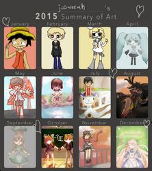 2015 Summary of Art by jooweeuh