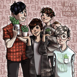 Plant Family - Birthday Gift for Sarehkee by LuzieCream