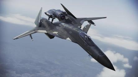 ADFX-01 M Morgan Mass Produced Fighter Jet by SolGravionMegazord