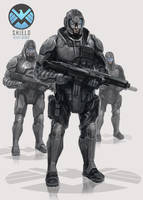 S.H.I.E.L.D Heavy Agents by SolGravionMegazord