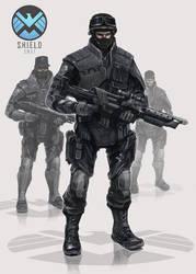S.H.I.E.L.D Swat Agents by SolGravionMegazord