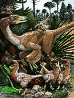 Velociraptor family day by Psithyrus