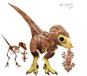 Study of baby Velociraptor by Psithyrus