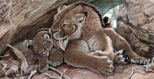 Survival of the Cuddliest, Smilodon fatalis family by Psithyrus