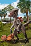 Dinosapien civilization: the real Flintstones by Psithyrus
