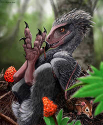 When Chickens Ruled: raptor dinosaur by Psithyrus