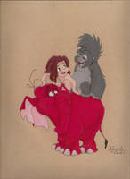 Tarzan, Terk, and Tantor. by ISleepWithSirens