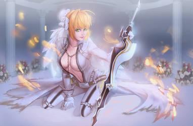 Fate Grand Order Nero Bride by KuroRime