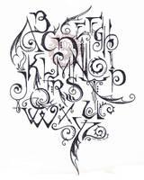 Alphabet Doodle by Myrret