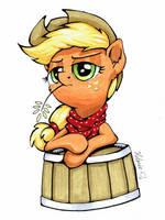 Applejack Portrait by Helmie-D