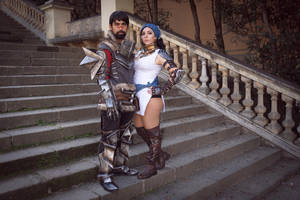 Hawke and Isabela by Anhyra