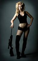 Gun Girl II by JenHell66
