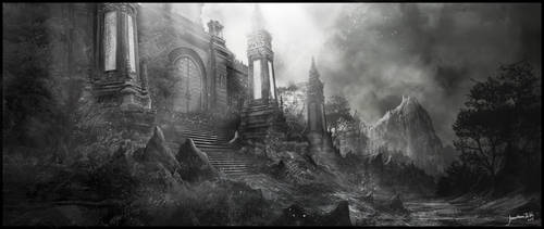 Temple ruin by JonathanDeVos