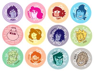 SAKANA button sale! by MyNameIsMad