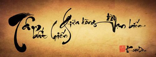 Vietnamese Calligraphy by kaffeden