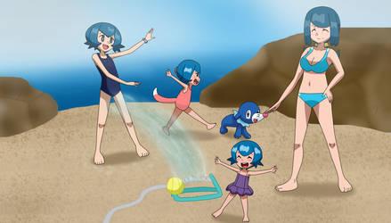 Lana's Family and the Sprinkler by Gamer5444