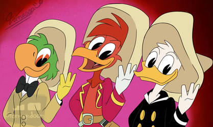 We are three caballeros (Flat colors) by Stormagedoom