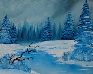 Happy Trees and Snow and Stuff (for sale) by FunkBlast