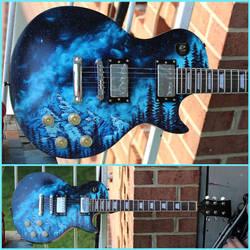 Bob Ross Galaxy Guitar by FunkBlast