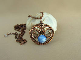 Pendant 'Sky in hands' by UrsulaJewelry
