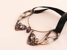 Grapes  - wire collar by UrsulaJewelry