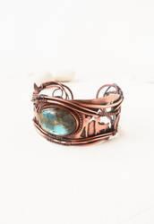 Copper cuff Deer by UrsulaJewelry