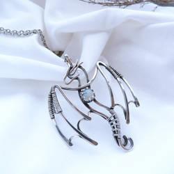 Silver Dragon pendant by UrsulaJewelry