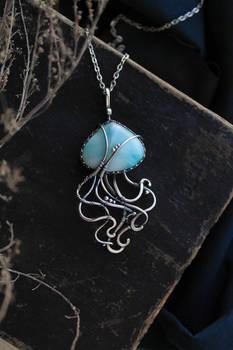 Silver jellyfish pendant by UrsulaJewelry