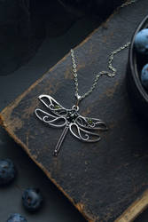 Silver dragonfly by UrsulaJewelry