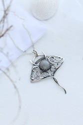 Manta Ray silver pendant by UrsulaJewelry