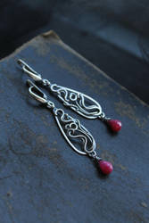 Ruby earrings by UrsulaJewelry