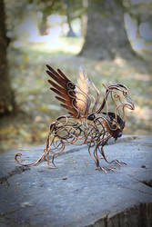 Wire sculpture Griffin by UrsulaJewelry