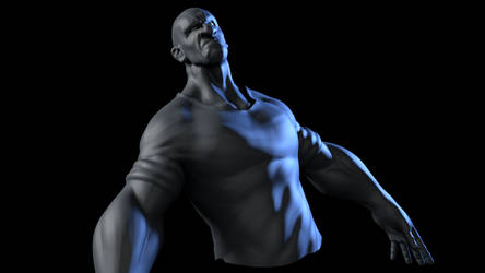 Bodysculpt test on Zbrush. by piotr47