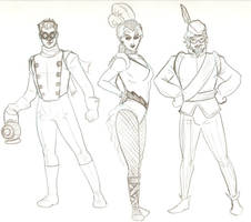 Steampunk JLA 1 by tedkordlives