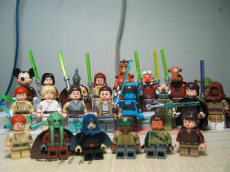 LEGO Starwars Jedi Collection by nnmushroom