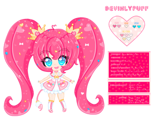 DevinlyPuff OC Reference Sheet by PrincessDevin302