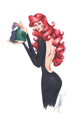 Ariel with purse by frozen-winter-prince