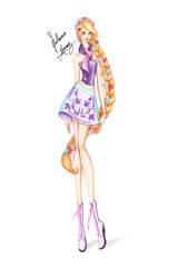 Rapunzel, from Disney Chickz! by frozen-winter-prince