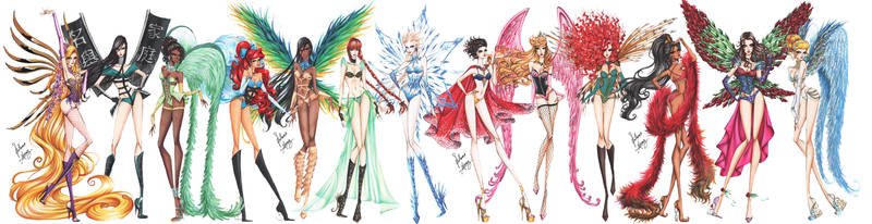 Disney Princesses go Victoria's Secret by frozen-winter-prince
