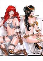 Red Sonja Dejah Thoris by Franklima