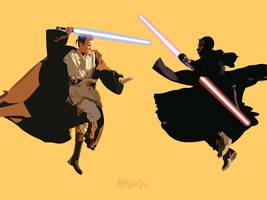 Jedi Battle by Phr33kSh0