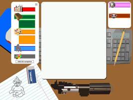 Illustrated Desk by Phr33kSh0
